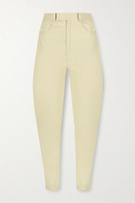 ZEYNEP ARCAY Leather Tapered Pants - Ivory
