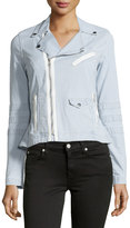 Joe's Jeans Jada Moto Peplum Jacket, Blue/White