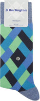 Burlington Fashion Geometric Cotton Socks