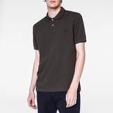 Paul Smith Men's Charcoal Grey PS Logo Organic-Cotton Polo Shirt
