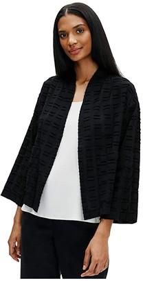 Eileen Fisher Kimono Jacket (Black) Women's Clothing