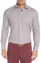 Peter Millar Men's Regular Fit Houndstooth Sport Shirt