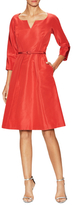 Carolina Herrera Silk Belted A-line Dress