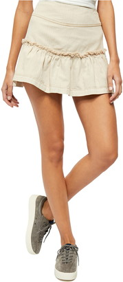 Free People Positano Lace-Up Mini Skirt