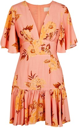 Keepsake Forever pink floral-print mini dress