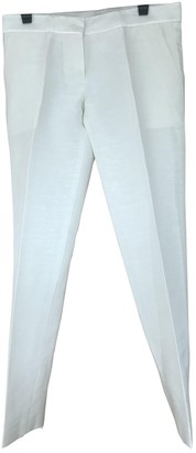 Pallas Ecru Leather Trousers for Women