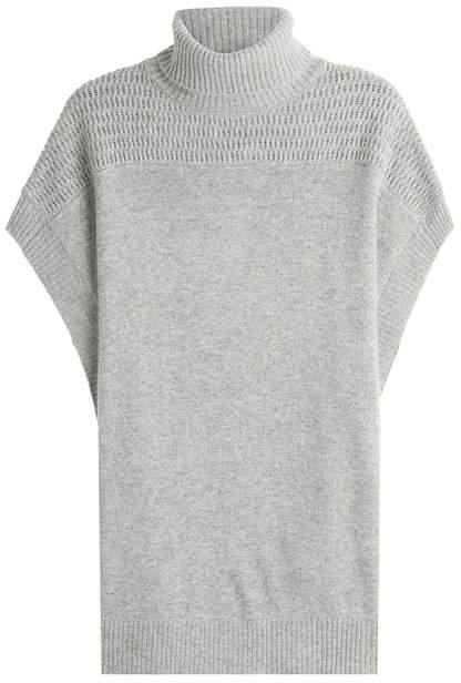 Velvet Cashmere Short Sleeved Cape Pullover