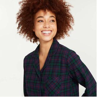 Joe Fresh Women's 2 Piece Flannel Sleep Set, Dark Green (Size XS)