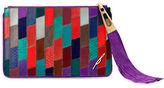 Brian Atwood Pur Patch Suede Crossbody Pouch