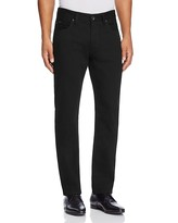 Armani Collezioni Straight Fit Five Pocket Jeans in Black