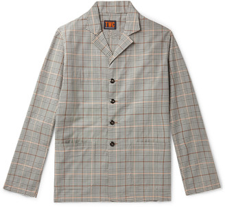 The Workers Club Checked Organic Cotton-Twill Blazer