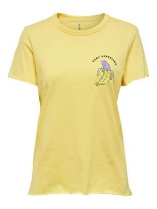 Only Women's Onlkita Life Reg S/s Fruit Top Box JRS T-Shirt