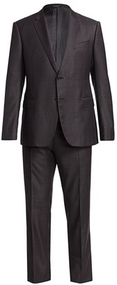 Emporio Armani Super 130s M-Line Single-Breasted Wool Suit