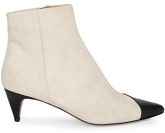 Isabel Marant Dlade Bi-Color Leather & Suede Ankle Boots