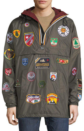 DSQUARED2 x K-Way® Nylon Packable Jacket with Patches