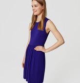 LOFT Petite Cap Sleeve Flare Dress