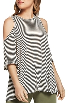 BCBGeneration Stripe Cold Shoulder Top