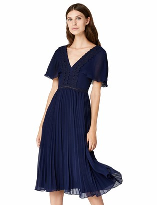Amazon Brand - TRUTH & FABLE Women's Midi Chiffon Dress
