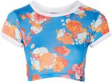 Illustrated People **Hawaii Floral Crop T-Shirt