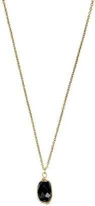 Slate & Salt Black Quartz Pendant Necklace