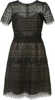 Marchesa short sleeve lace dress - women - Polyester - 0