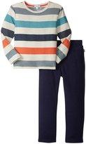 Splendid Reverse Printed Top W/Pant (Toddler/Kid) - Stripe - 4T