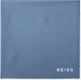 Reiss Moon - Silk Pocket Square in Soft Blue