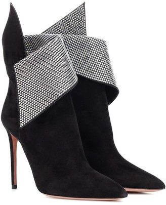 Aquazzura Night Fever 105 suede ankle boots