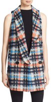 Milly Women's 'Lindsey' Sleeveless Houndstooth Jacket