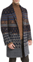 Etro Tribal Pattern Single-Breasted Coat