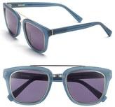 Derek Lam Women's 'Prince' 50Mm Aviator Sunglasses - Caramel Stripes