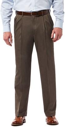 Haggar Big & Tall Premium Classic-Fit Stretch Pleated Dress Pants