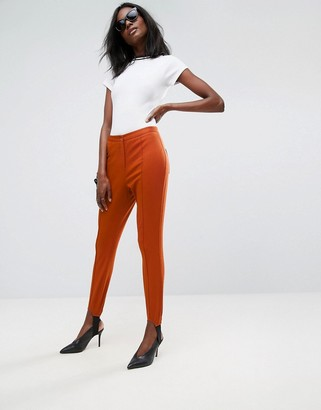 Asos Design Washed Skinny Trousers with Stirrup Detail