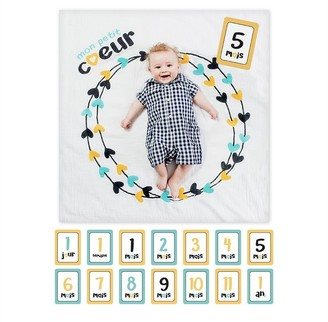 Lulujo Muslin Blanket and Keepsake Photo Set Baby's First Year
