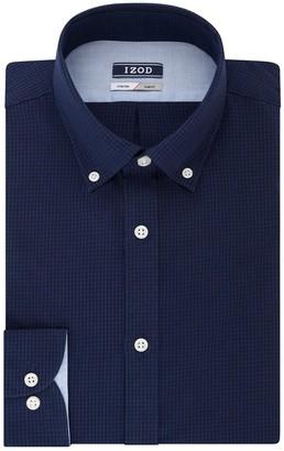 Izod Men's Slim-Fit Button-Down Collar Wrinkle-Free Dress Shirt