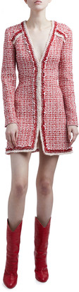 Giambattista Valli Tweed Zip-Front Dress