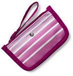 Classic Small Striped Canvas Pouch-True Navy