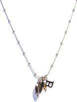 Balenciaga Scarab beetle and leaf charm pendant necklace