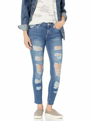 GUESS Women's Skinny Ankle Destroyed Jean