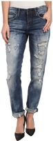 Blank NYC Distressed Denim Boyfriend Relaxed Straight Jean in Fit Of Rage