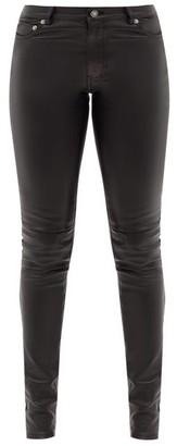 Saint Laurent Skinny Leather Trousers - Black