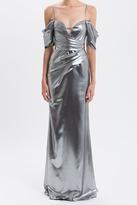 J. Mendel Matte Metallic Charmeuse Gown
