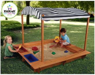 Kid Kraft Outdoor Sandbox With Canopy