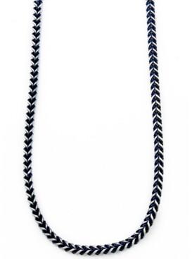 Sutton by Rhona Sutton Sutton Stainless Steel Blue-Tone Chain Necklace