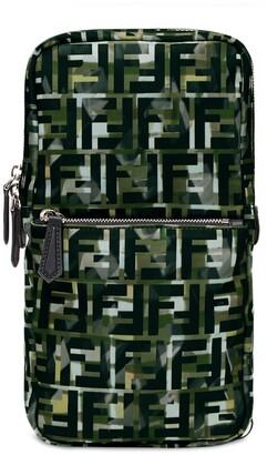 Fendi camouflage FF print one-shoulder backpack