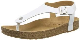 Haflinger Women's Cosima Flip Flops, White (Weiß 698)