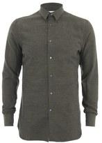 J. Lindeberg Men's Danielle Flannel Long Sleeve Shirt Green