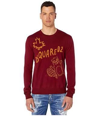 DSQUARED2 Beaver Crew Neck Sweater