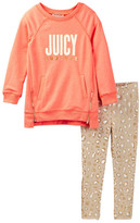 Juicy Couture Tunic & Animal Print Legging Set (Toddler Girls)