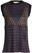 Marni Metallic Jacquard-Knit Top